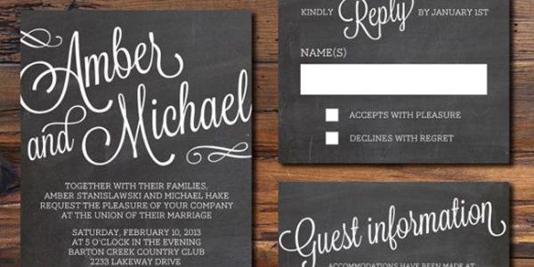 contoh undangan pernikahan desain undangan